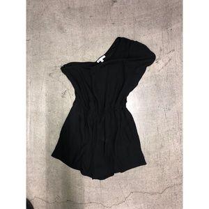 DR2 Black one shoulder romper jumpsuit onepiece